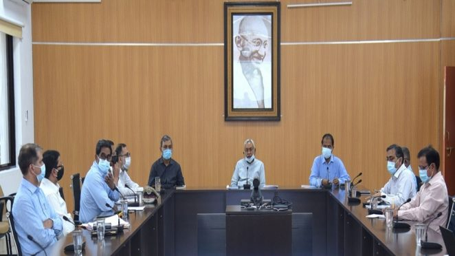 Nitish Kumar Corona emergency meeting at Patna.