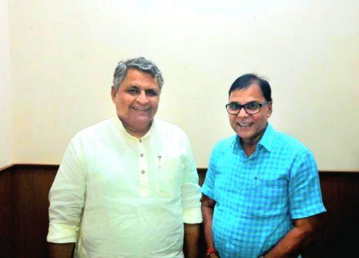 Education minister of Bihar Vijay Choudhary and Educationist Dr.Bhupendra Madhepuri