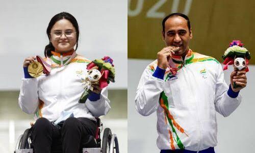 Avani Lekhra and Singhraj Adhana won 2 medals in Tokyo Paralympic 2020.